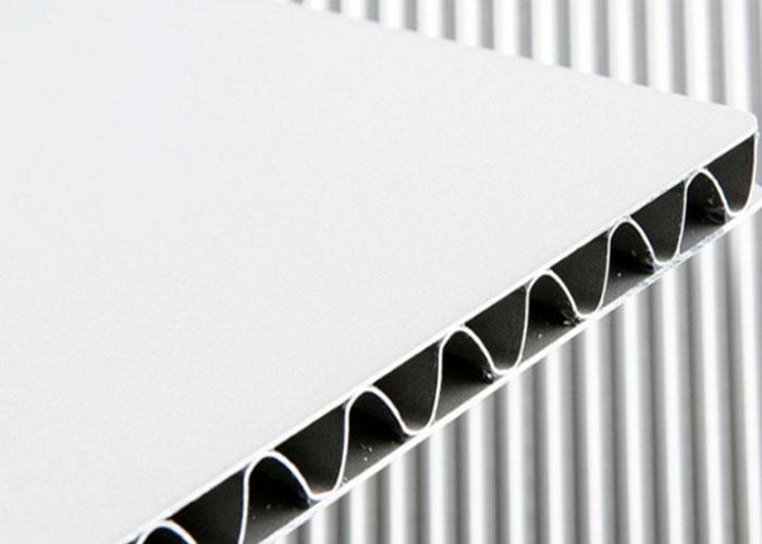 White Aluminium Panel : A grade aluminum corrugated composite panel yoobond